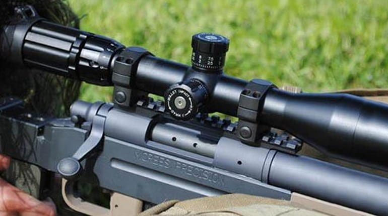 picture of a scope on rifle image
