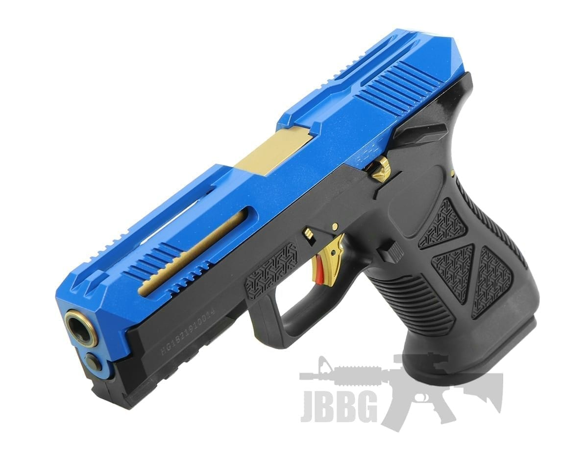 HG182 AG17 Scorpion GAS Airsoft Pistol blue