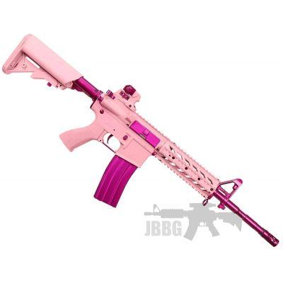 Femme Fatale FF15 Pink Raider M4 RIS AEG Airsoft Gun – Limited Edition