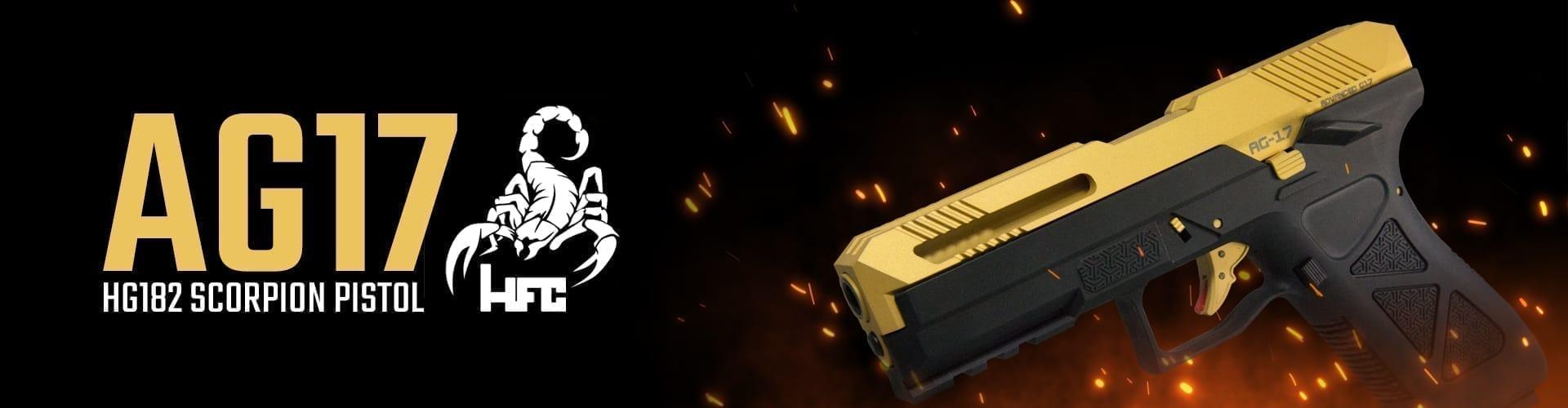 HG182 AG17 Scorpion Gas Airsoft Pistol