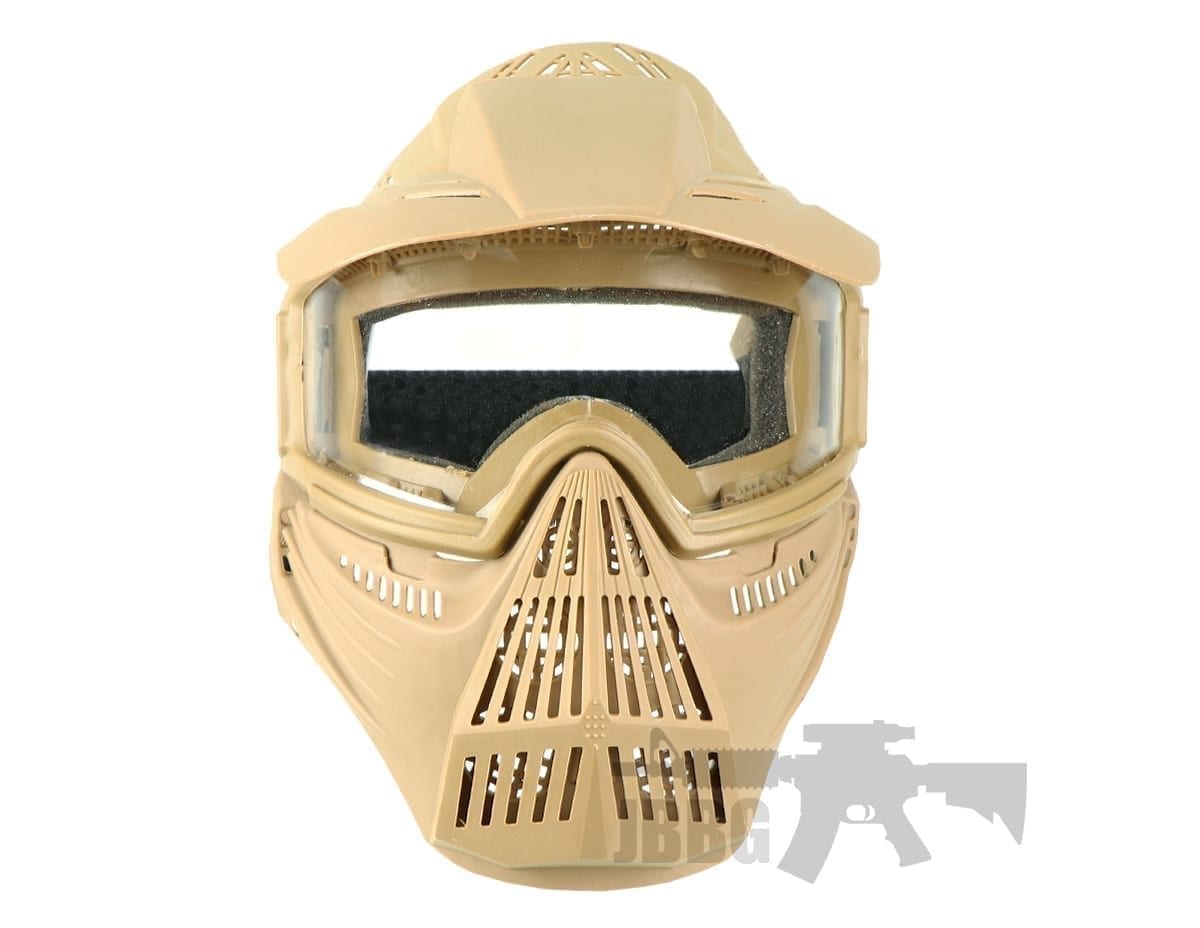 Pro Airsoft Mask Clear tan