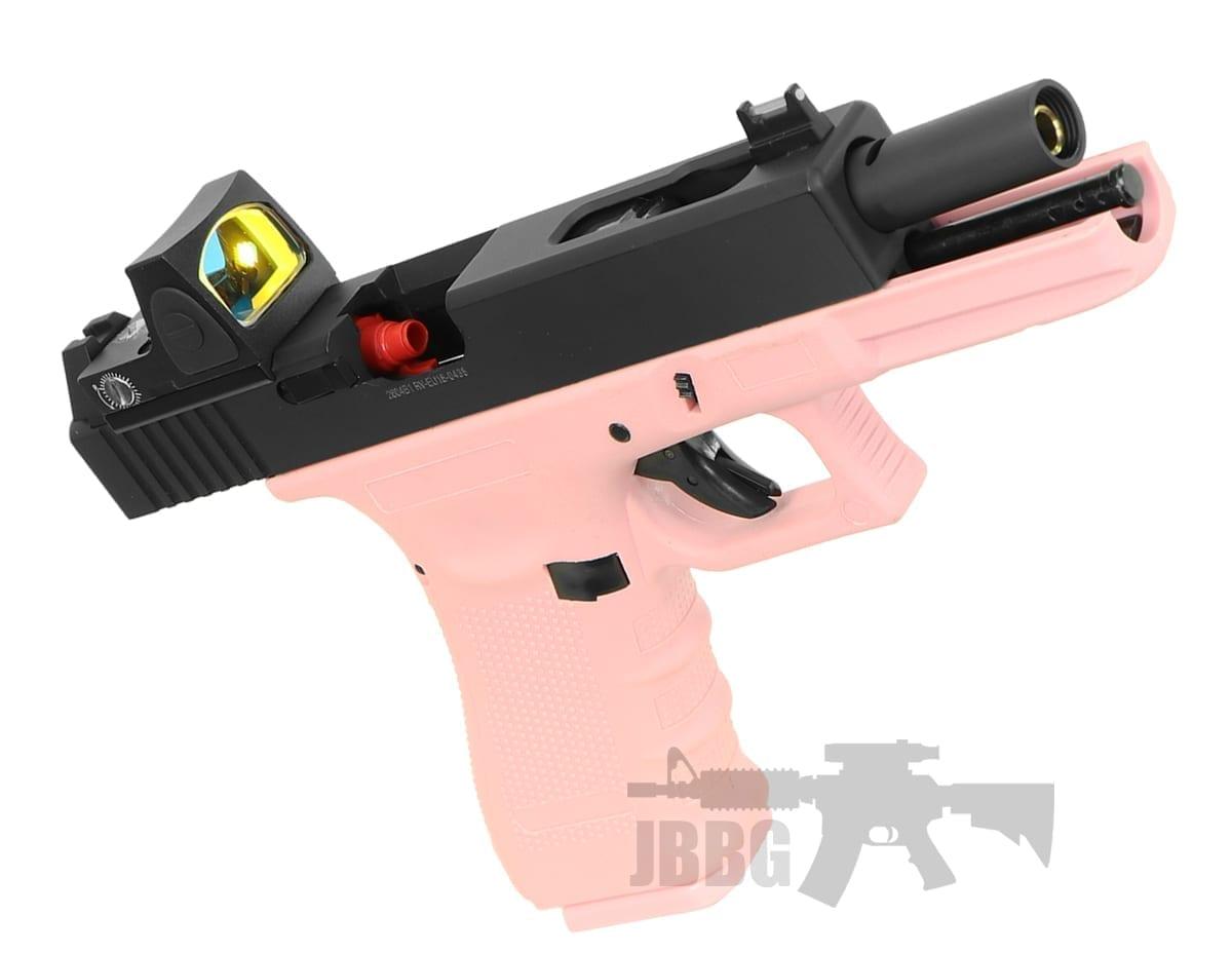 Raven EU17 Airsoft GBB Pistol Pink with BDS