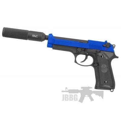 SR92 Gas Airsoft Pistol with Silencer