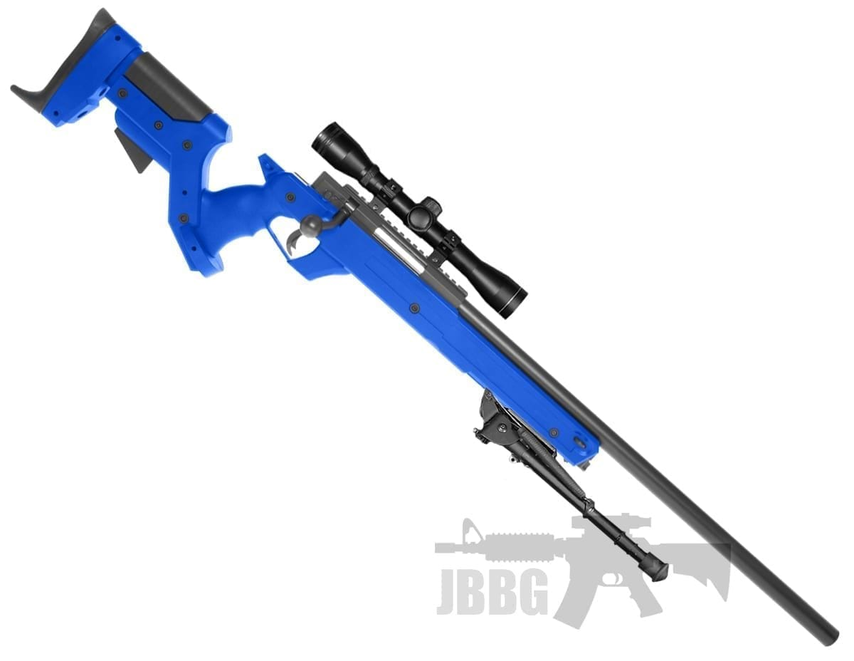 mb04 well airsoft sniper set blue
