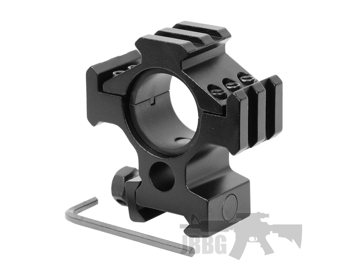 rifle scope mount with rails