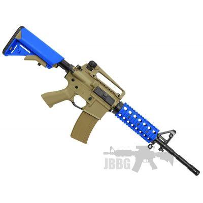 Bulldog M4PG RIS Airsoft Gun – TAN BLUE