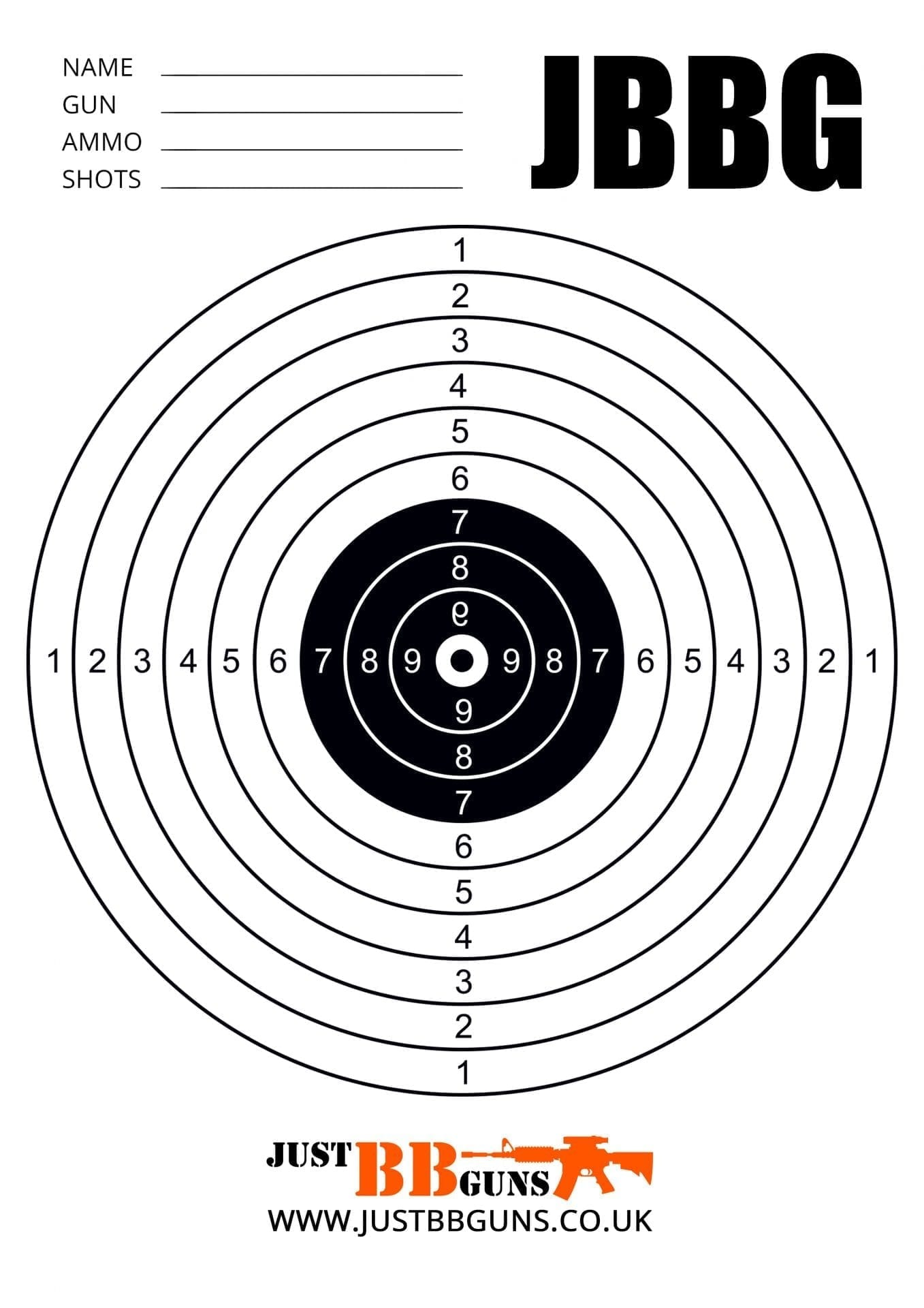 Free Targets Just Bb Guns Airsoft Targets To Download And Print