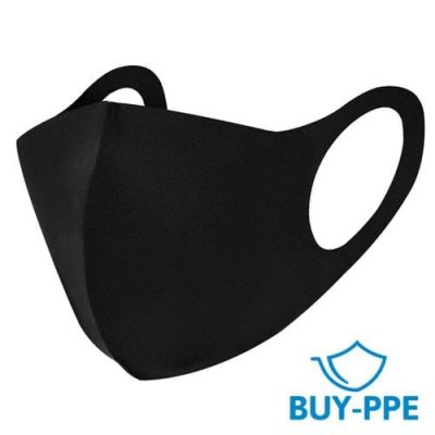 Reusable Washable Black Face Mask 2 Pack