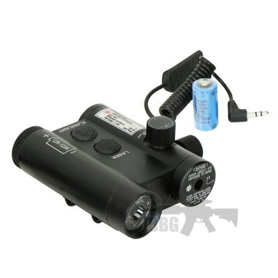 Military Grade Dual Laser and Flashlight Combo Rail Unit