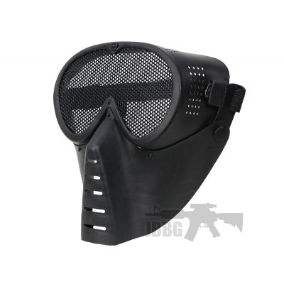 Aviator Series Round Hole Steel Mesh Mask
