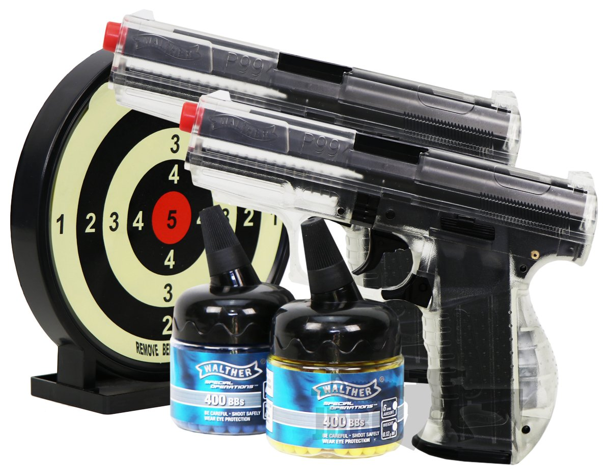 Walther P99 Duelers Kit Airsoft Pistol Clear