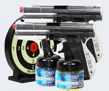 airsoft gun bb pistol set