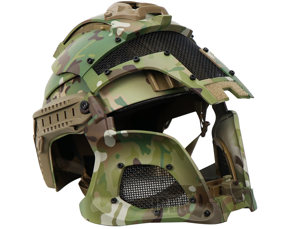 Medieval Iron Warrior Full Head Coverage Airsoft Helmet and Mask