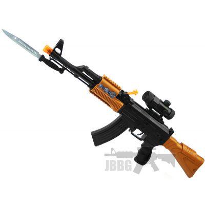 ak5544b battery operated vibration flash ak47 toy gun