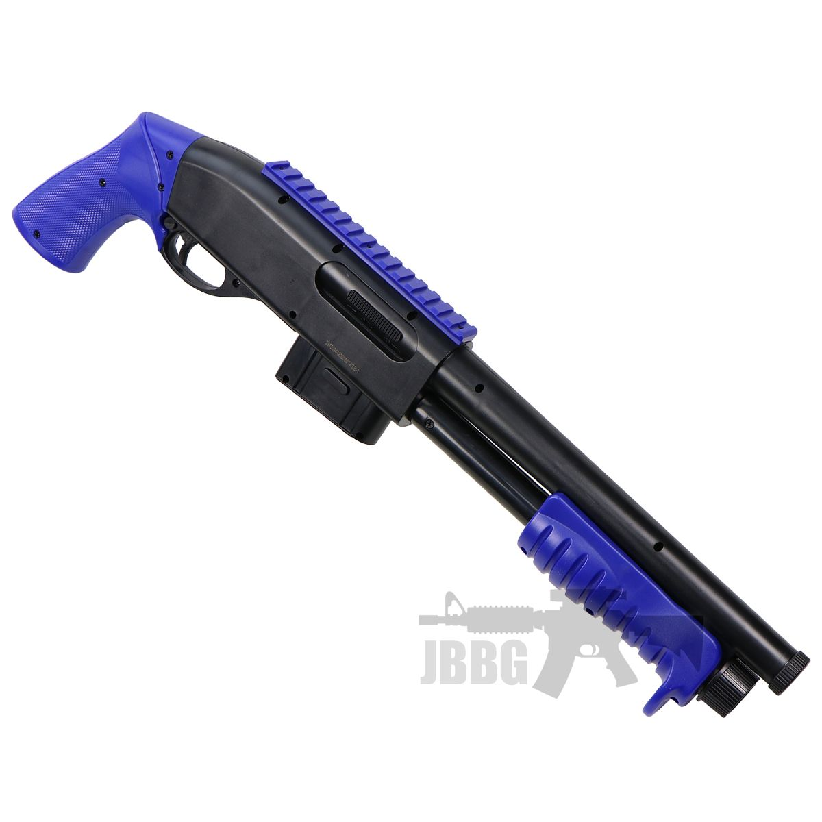 blue shotgun airsoft 1