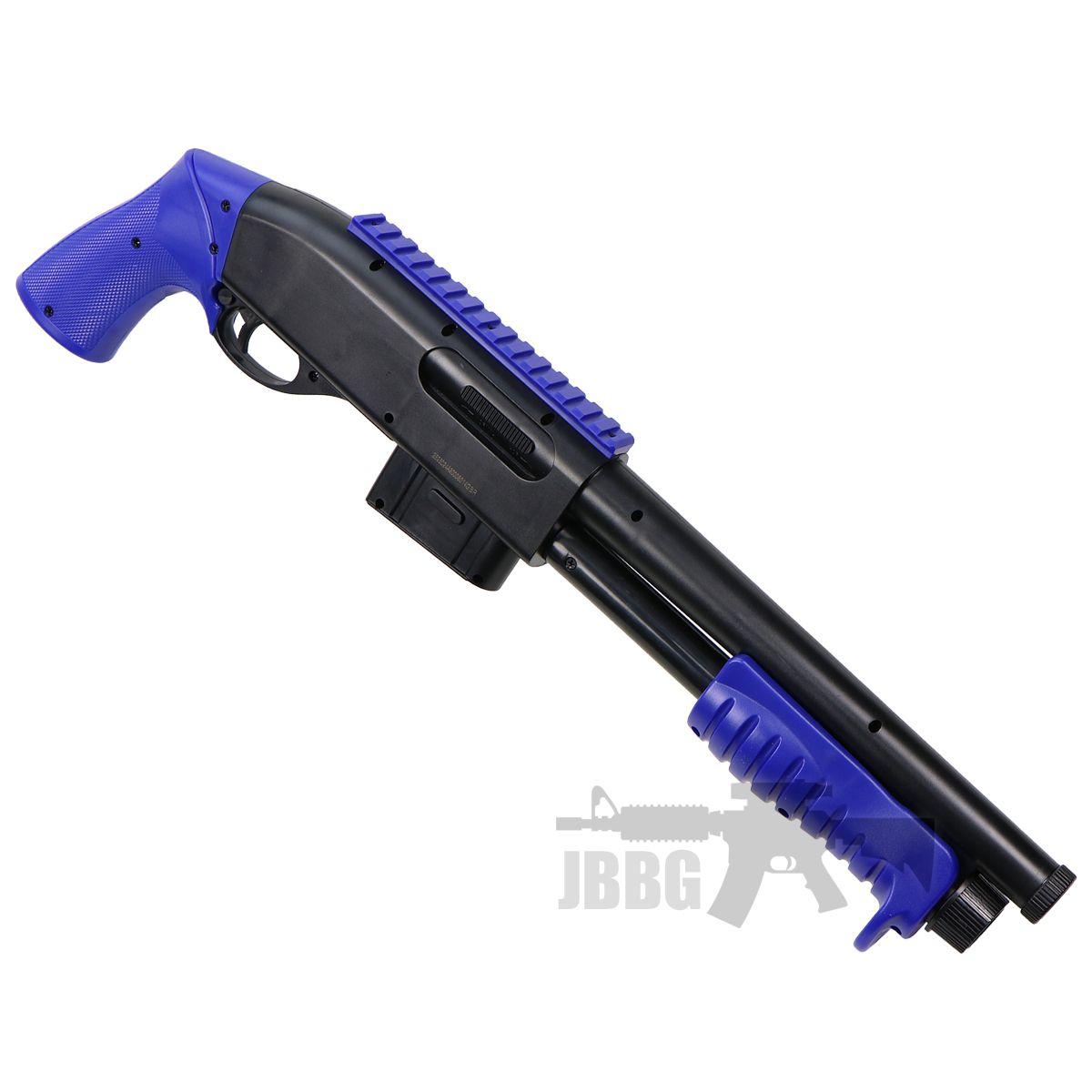 blue shotgun airsoft 1