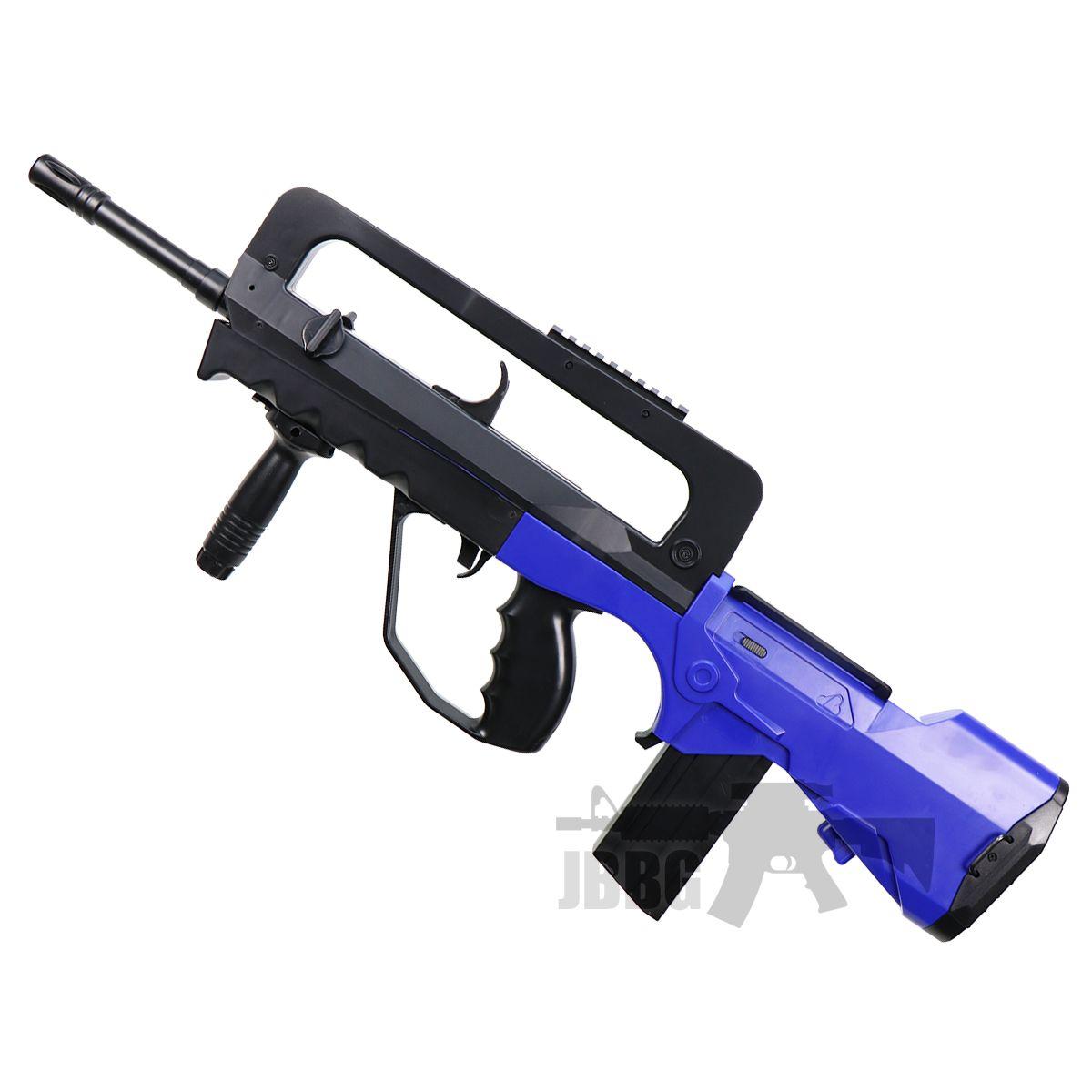 famas blue airsoft rifle 1