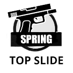 spring top slide pistol icon