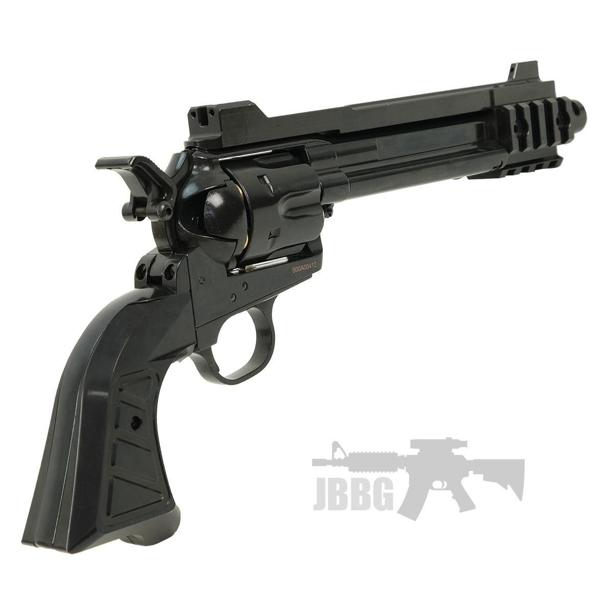 King Arms SAA 45 Devil Gas Airsoft Revolver 22