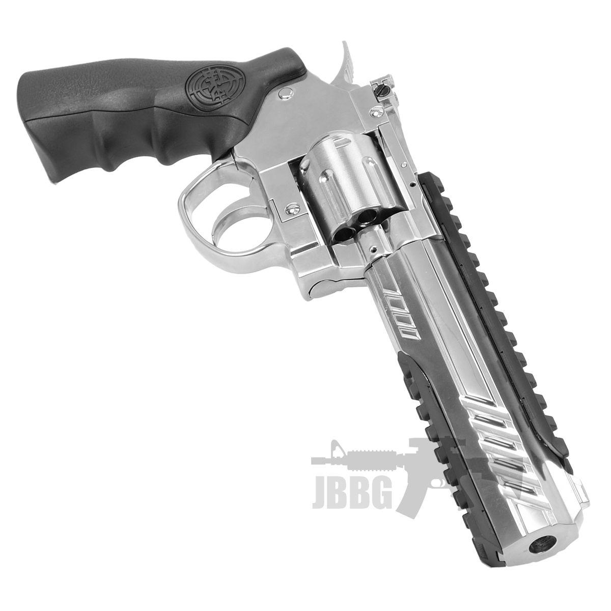 SRC 6 Inch Titan Platinum Ver CO2 Airsoft Revolver 33
