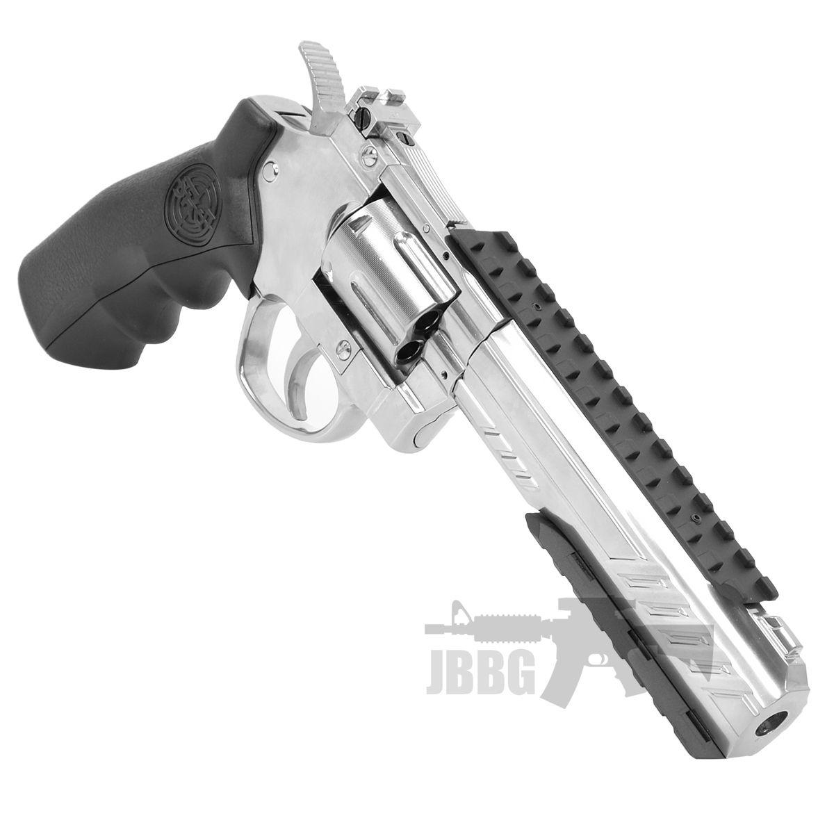 SRC 6 Inch Titan Platinum Ver CO2 Airsoft Revolver 5