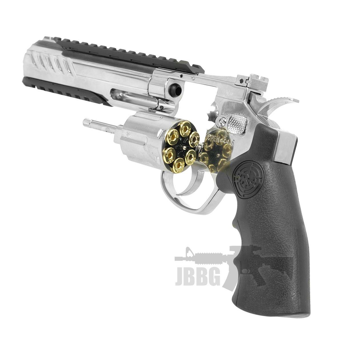 SRC 6 Inch Titan Platinum Ver CO2 Airsoft Revolver 555