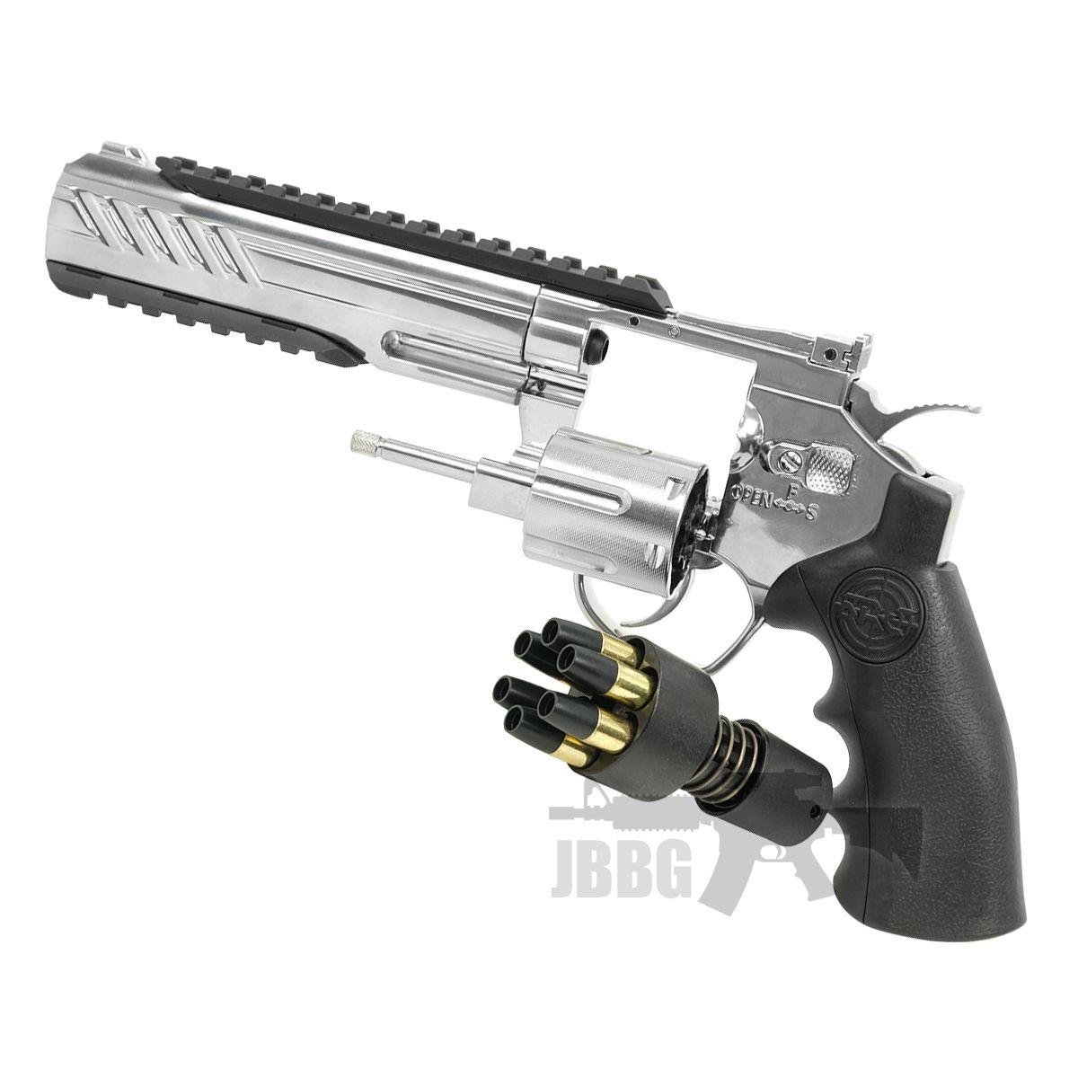 SRC 6 Inch Titan Platinum Ver CO2 Airsoft Revolver 66