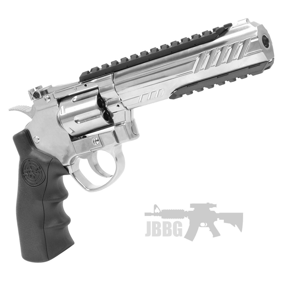 SRC 6 Inch Titan Platinum Ver CO2 Airsoft Revolver 8