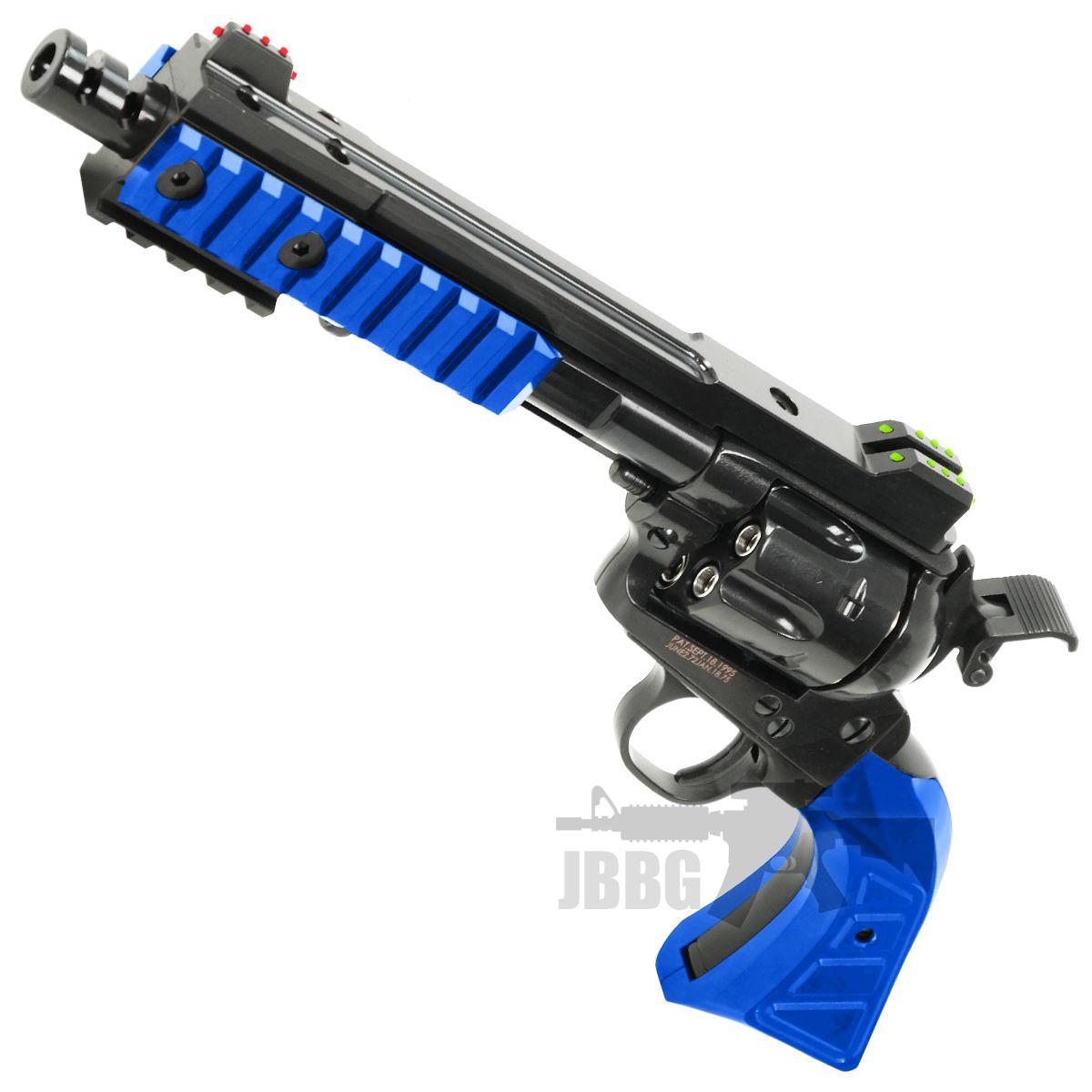 King Arms SAA .45 Devil Revolver-Blue
